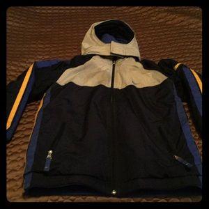 VGC Nike boys reversible winter jacket hood zip
